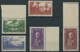 MONACO 138-42 **, 1937, Gartenanlagen, Prachtsatz, Mi. 220.- - Monaco