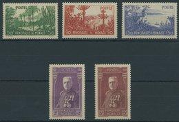 MONACO 138-42 **, 1937, Gartenanlagen, Falzrest, Prachtsatz - Monaco