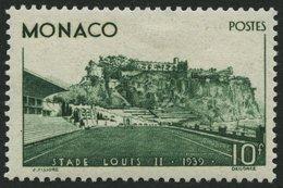 MONACO 189 *, 1939, 10 Fr. Einweihung Des Louis II. Stadions, Falzrest, Pracht - Monaco