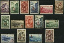 MONACO 205-19 *, 1940, Rotes Kreuz, Falzreste, Prachtsatz - Monaco