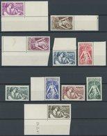 MONACO 247-56 **, 1941, Schutz Der Mütter Und Kinder, Postfrischer Prachtsatz, Mi. 90.- - Monaco