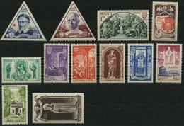 MONACO 429-40 *, 1951, Heiliges Jahr 1950, Falzreste, Prachtsatz - Monaco