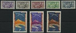 MONACO 443-50 *, 1951, Visitenkarten Falzreste, 2 Prachtsätze - Monaco