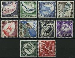 MONACO 458-67 *, 1953, Olympische Sommerspiele, Falzrest, Prachtsatz - Monaco