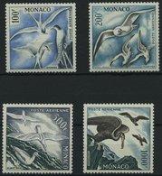 MONACO 502-05A *, 1955, Seevögel Aus Dem Mittelmeerraum, Gezähnt K 11, Falzrest, Prachtsatz - Monaco