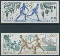 MONACO 2011-14U Paar **, 1991, Sonderdruckpaar Olympische Winterspiele, Ungezähnt, Pracht, Mi. 450.- - Monaco