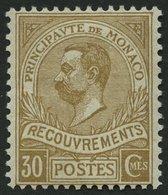 DIENSTMARKEN D 10 *, 1911, 30 C. Gelbbraun, Falzreste, Pracht, Mi. 200.- - Portomarken