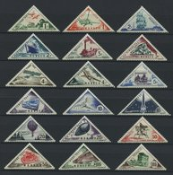 DIENSTMARKEN D 40-57 *, 1953, Verkehrsmittel, Falzrest, Prachtsatz - Portomarken