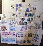 SAMMLUNGEN, LOTS Brief,o , 1967-79, Lot Von 13 FDC`s, Dazu Einzelmarken Und 6 Fast Nur Verschiedene Blocks, Fast Nur Pra - Monaco