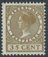 1926, 35 C. Braunoliv, Wz. 2, Falzrest, Pracht -> Automatically Generated Translation: 1926, 35 C. Brown Olive, Watermar - Niederlande