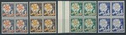 NIEDERLANDE 268-71A VB **, 1933, Voor Het Kind In Viererblocks, Postfrischer Prachtsatz, Mi. 400.- - Niederlande