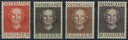 NIEDERLANDE 540-43 *, 1949, Königin Juliana, Falzrest, Prachtsatz - Niederlande