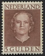 NIEDERLANDE 542 **, 1949, 5 G. Rotbraun, Gummi Minimal Fleckig Sonst Pracht, Mi. 450.- - Niederlande