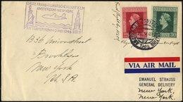 NIEDERLANDE 21.5.1946, Erstflug Der KLM AMSTERDAM-NEW YORK, Feinst, Müller 325 - Niederlande