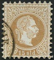 POST IN DER LEVANTE 5I O, 1867, 15 So. Braun, Grober Druck, Mit Wz. Ganzer Buchstabe, Pracht - Levante-Marken