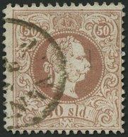 POST IN DER LEVANTE 7Cb O, 1867, 50 So. Rötlichbraun, Gezähnt L 12, K1 JANINA, Feinst, Fotobefund Dr. Ferchenbauer, Mi.  - Levante-Marken