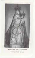 Santino Antico Madonna Della Catena Da Castiglione Di Sicilia - Catania - Religione & Esoterismo