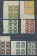 SAN MARINO 91-98 **, 1923, Rotes Kreuz Im Postfrischen Viererblock, Teils Aus Der Bogenecke, Pracht, Mi. (220.-) - San Marino