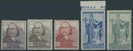 SAN MARINO 100-04 **, 1924, Flucht Der Garibaldis Nach San Marino, Postfrischer Prachtsatz, Mi. 80.- - San Marino