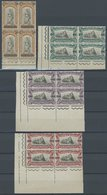 SAN MARINO 105-08 VB **, 1924, 30 C. Auf 45 C. - 2 L. Auf 3 L. Kriegsverletzte In Postfrischen Randviererblocks Meist Au - San Marino
