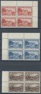 SAN MARINO 141-44 VB **, 1928, Franziskus Von Assisi In Randviererblocks, Postfrischer Prachtsatz, Mi. 800.- - San Marino