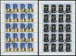 SAN MARINO 1465/6 KB O, 1991, Europäische Weltraumfahrt In Kleinbogen, Pracht, Mi. 160.- - San Marino