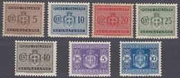 ITALIA - 1934 - SEGNATASSE - Lotto Di 7 Valori Nuovi MH/MNH: Yvert 28/31, 33, 38 E 39. - 1900-44 Vittorio Emanuele III