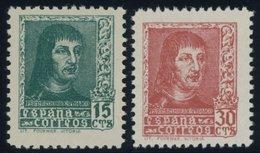 SPANIEN 791,794 **, 1938, König Ferdinand II, Druckvermerk Lit Fournier Vitoria, 2 Postfrische Prachtwerte, Mi. 53.- - Spanien