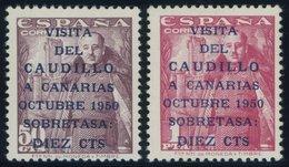 SPANIEN 985/6 **, 1950, Besuch Francos Auf Den Kanarischen Inseln, Postfrisch, Pracht, Mi. 200.- - Spanien