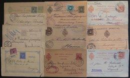 Ganzsachen: 1873-1913, 9 Verschiedene Gebrauchte Ganzsachenkarten, Meist Pracht -> Automatically Generated Translation:  - Spanien