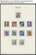 SPANIEN **, 1950-75, Postfrische Sammlung Spanien Im Neuwertigen Leuchtturm Falzlosalbum, Ab 1954 Komplett, Prachterhalt - Spanien