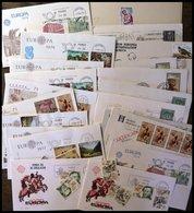 SPANIEN Brief,o , 1973-79, Kleines Lot Von 20 Belegen, Fast Nur FDC`s, Dazu Einige Einzelmarken, Pracht - Spanien
