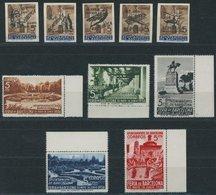 B. BARCELONA A13I-V,14-18 **, 1936, Republik Und Mustermesse, 2 Postfrische Prachtsätze, Mi. 140.- - Barcelona