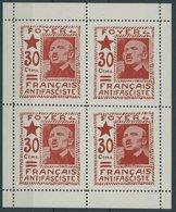 1937, 30 C. Rot Foyer Du Français Antifascite Im Postfrischen Kleinbogen (4), Pracht -> Automatically Generated Translat - Spanien