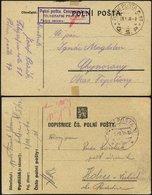 TSCHECHOSLOWAKEI 1938, Feldpostkarte Vom Feldpostamt Nr. 47 Mit K2 POLNI POSTA C.47/C.S.P. Mit Violettem Zensurstempel U - Tschechoslowakei/CSSR