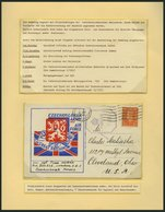 TSCHECHOSLOWAKEI Brief,o,*, **, 1940-48, Interessante Sammlung Mit 27 Bedarfsbelegen, Dabei Feldpost, Zensurbelege, Dazu - Tschechoslowakei/CSSR