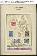 TSCHECHOSLOWAKEI O, Gestempelte Sammlung Tschechoslowakei Von 1945-64 Auf KA-BE Seiten, Anfangs Recht Komplett, Bl. 7 (* - Tschechoslowakei/CSSR