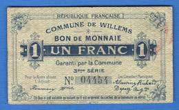 Willems  1  Fr   59/1802 - Bons & Nécessité