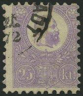 UNGARN 6a O, 1871, 25 K. Violett, Etwas Dezentriert, Pracht, Mi. 400.- - Hongrie