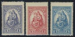 UNGARN 427-29 *, 1926, Patrona Hungariae, Falzrest, Prachtsatz - Hongrie