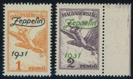 UNGARN 478/9 **, 1931, Graf Zeppelin, Pracht, Mi. 200.- - Hongrie