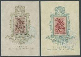 UNGARN Bl. 5/6 O, 1939, Blockpaar Bethlen-Gabor-Bund, Ersttags-Sonderstempel, Pracht, Mi. 100.- - Hongrie