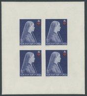 UNGARN 696-98B KB **, 1924, Rotes Kreuz, Ungezähnt, In Kleinbogen, Pracht, Mi. 100.- - Hongrie