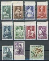 UNGARN 1330-40 **, 1953, Volkstrachten, Tag Der Briefmarke, Fußball-Nationalmannschaft, Postfrisch, Pracht, Mi. 73.- - Hongrie