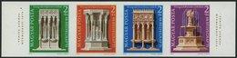 UNGARN 3060-63B **, 1975, Denkmalschutzjahr Im Ungezähnten Viererstreifen, Pracht, Mi. 120.- - Hongrie