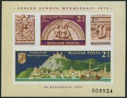 UNGARN Bl. 115B **, 1975, Block Denkmalschutzjahr, Ungezähnt, Pracht, Mi. 90.- - Hongrie
