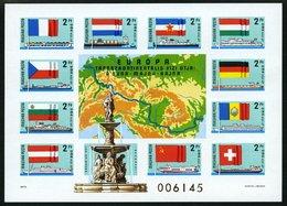 UNGARN Bl. 128B **, 1937, Block Donau-Main-Rhein-Schifffahrt, Ungezähnt, Pracht, Mi. 60.- - Hongrie
