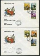 UNGARN 3451-56B,Bl. 146B BRIEF, 1980, Europäische Naturschutzkampagne, Einzelmarken Und Block, Ungezähnt, Auf 3 FDC`s, P - Hongrie