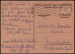UNGARN 1968, Portofreie Feldpostkarte Eines In Der Tschechoslowakei Eingesetzten Ungarischen Soldaten, über Das Postfach - Hongrie