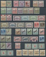 UNGARN 1-44,P 1-10 **, ARAD: 1919, 52 Werte, Bis Auf Mi.Nr. 31 Und A43 Postfrisch Komplett, Pracht, Alle Signiert PAPE - Hongrie